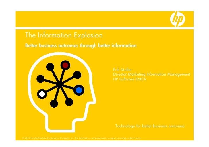 Information Explosion - Erik Moller