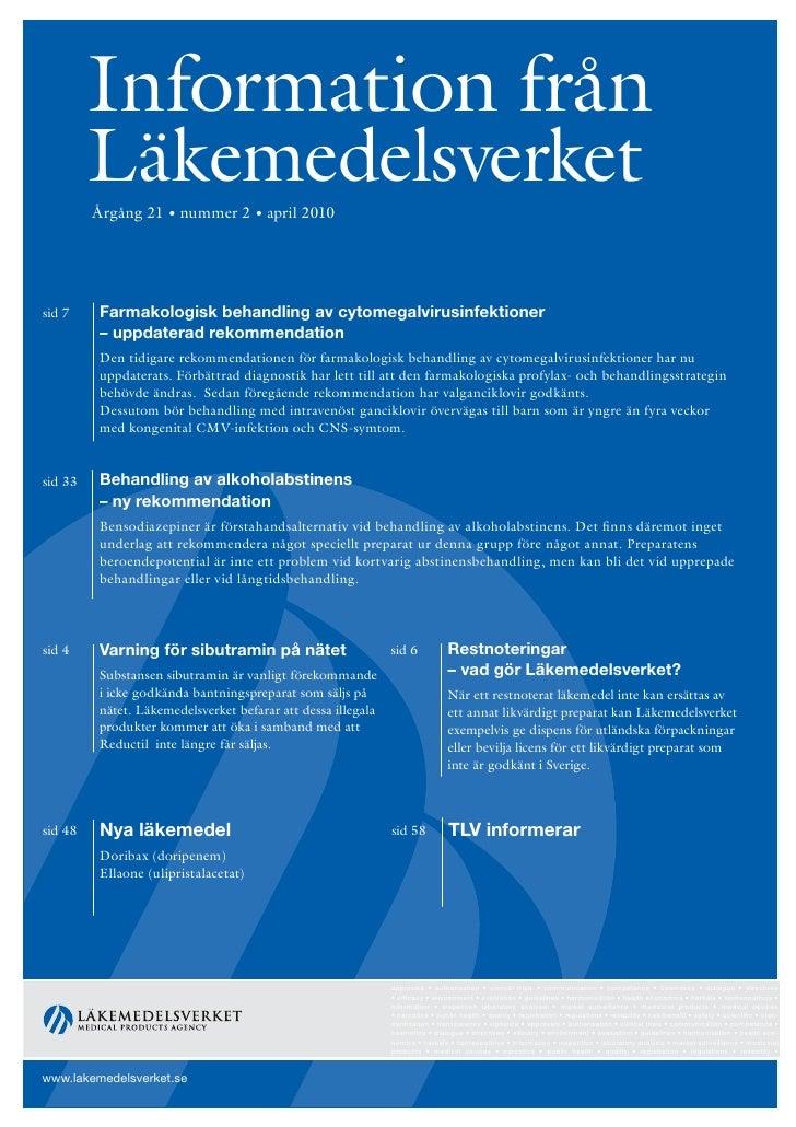 Information från Läkemedelsverket #2 2010