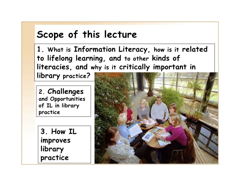 competency in information and technology literacy essay Information literacy is also important to  just because you know how to use a particular information technology today does not mean that there is not another one.