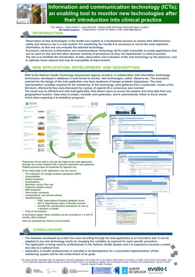 Information and communication technology (ic ts), an enabling tool to monitor new technologies after their introduction into clinical practice