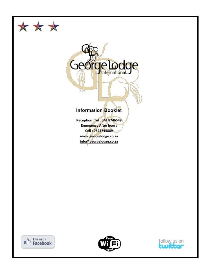 Information booklet george lodge international.