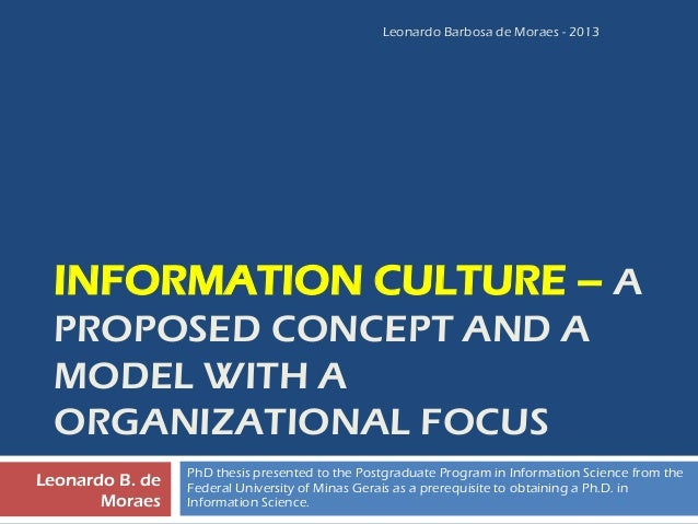 Phd thesis on organizational culture