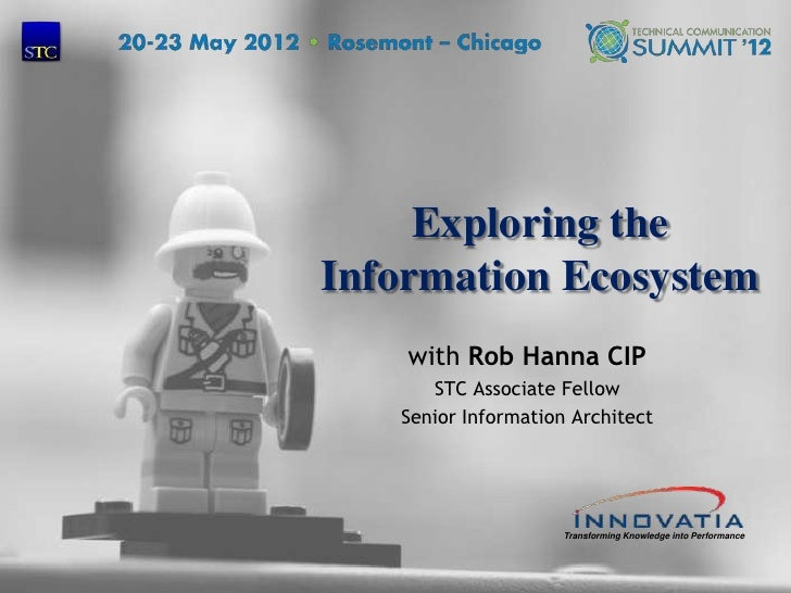 Exploring the    Information Ecosystem        with Rob Hanna CIP          STC Associate Fellow       Senior Information Ar...