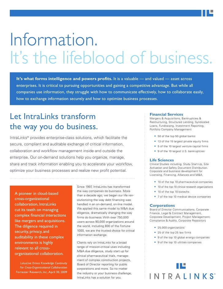 Information Is The Lifeblood Of A Business