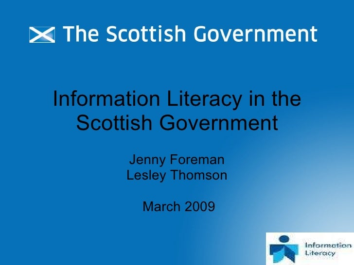 Information Literacy in the Scottish Government