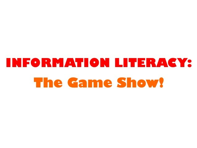 Information literacy: the game show!