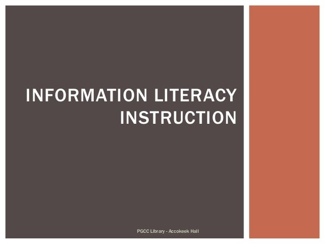 Information Literacy Instruction