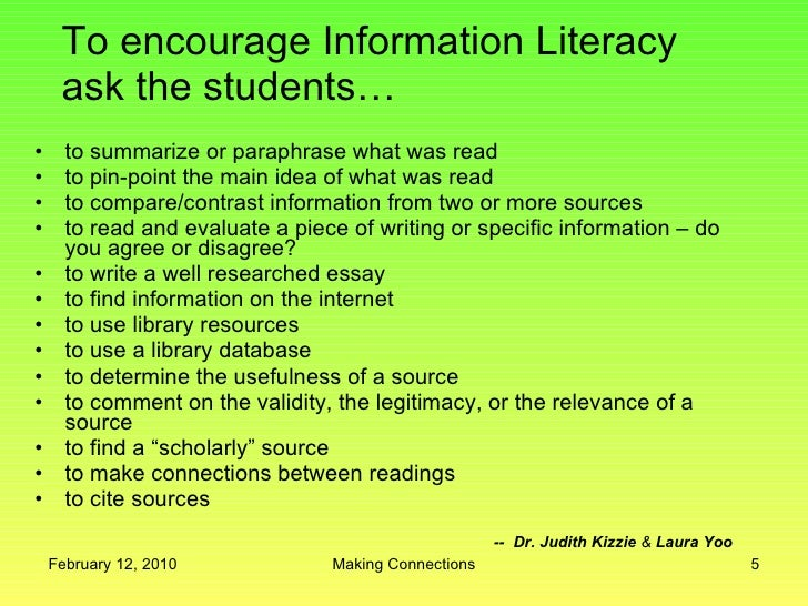 literacy reflection