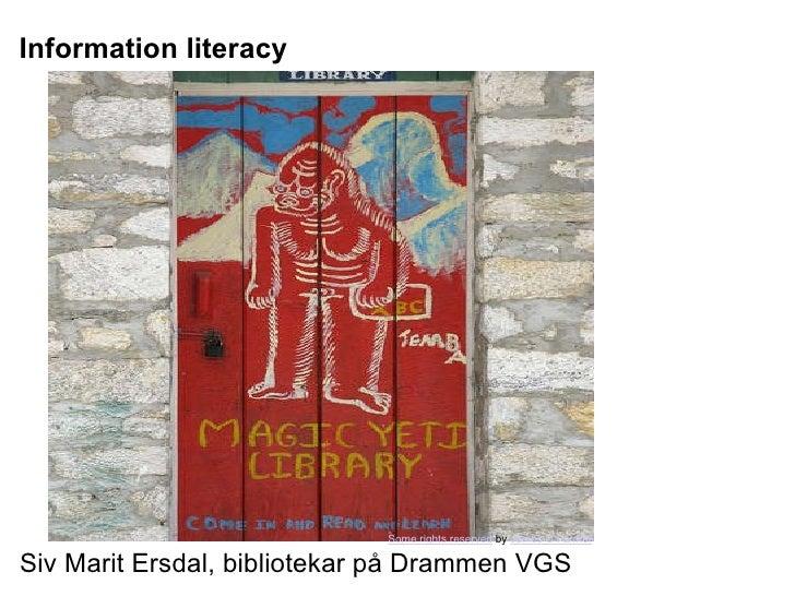Information litteracy