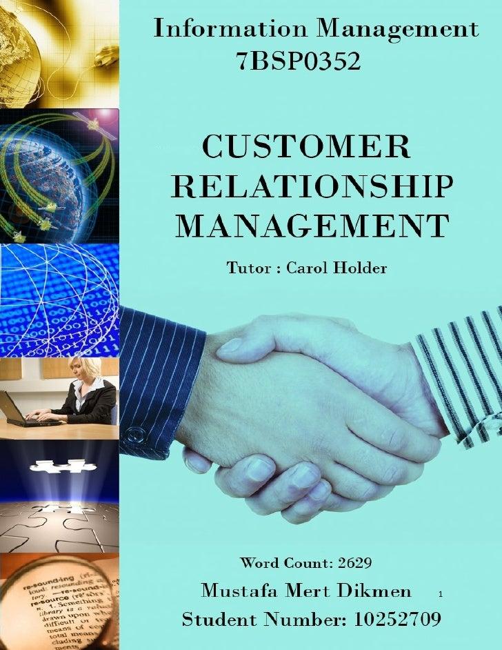 Information Management - Customer Relationship Management
