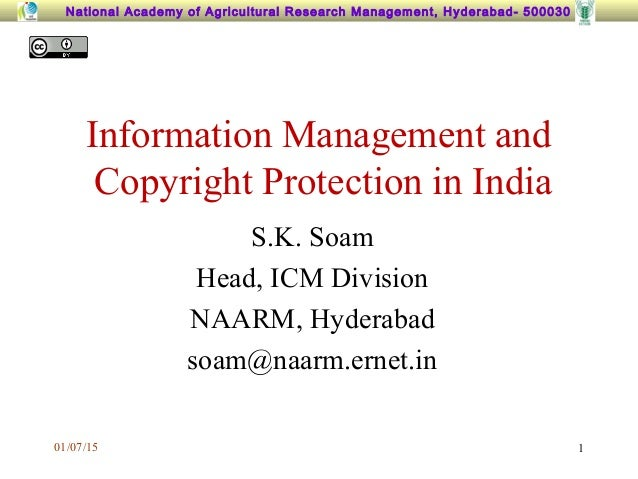 Information management copyright in india for Copyright facts and information