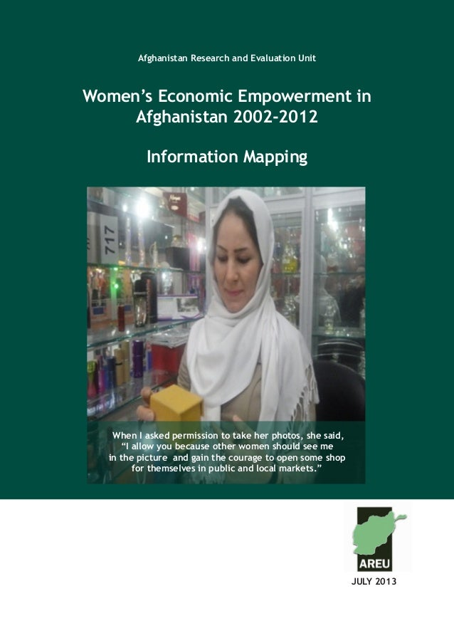 Afghanistan Research and Evaluation Unit Case Study Series Afghanistan Research and Evaluation Unit Women's Economic Empow...