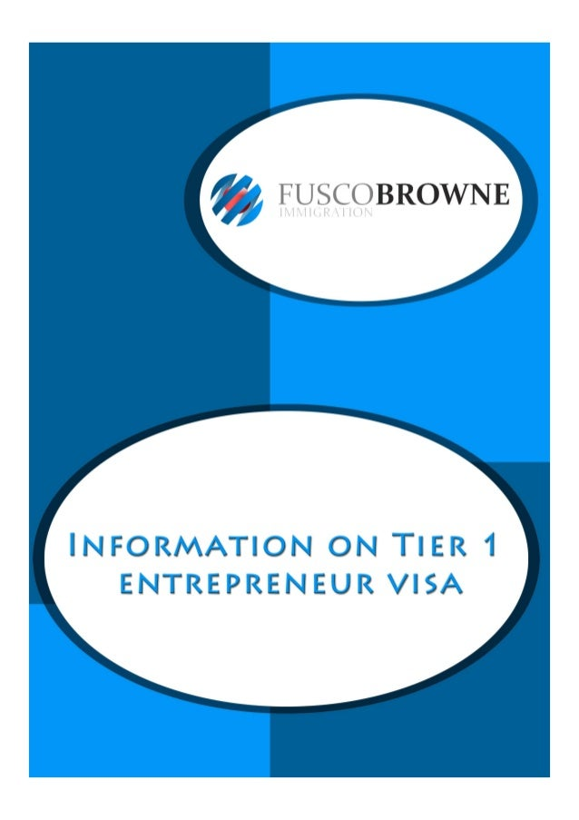 Information on Tier 1 entrepreneur visa