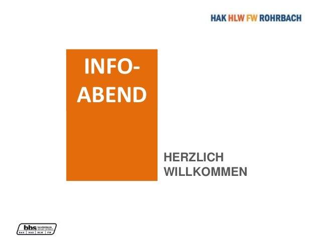INFO- ABEND HERZLICH WILLKOMMEN