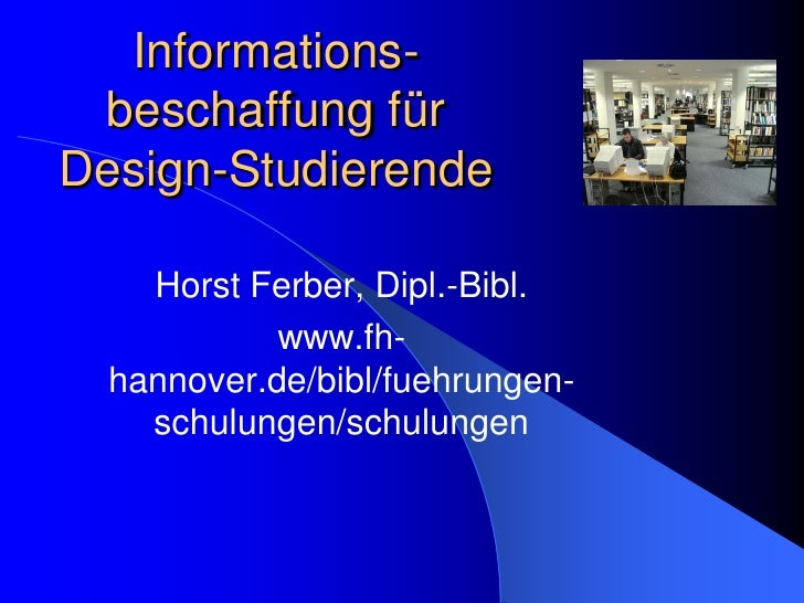 Informationsbeschaffung  Design  P P97neu