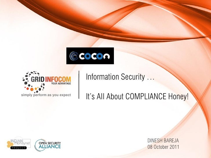 Information Security   It's All About Compliance