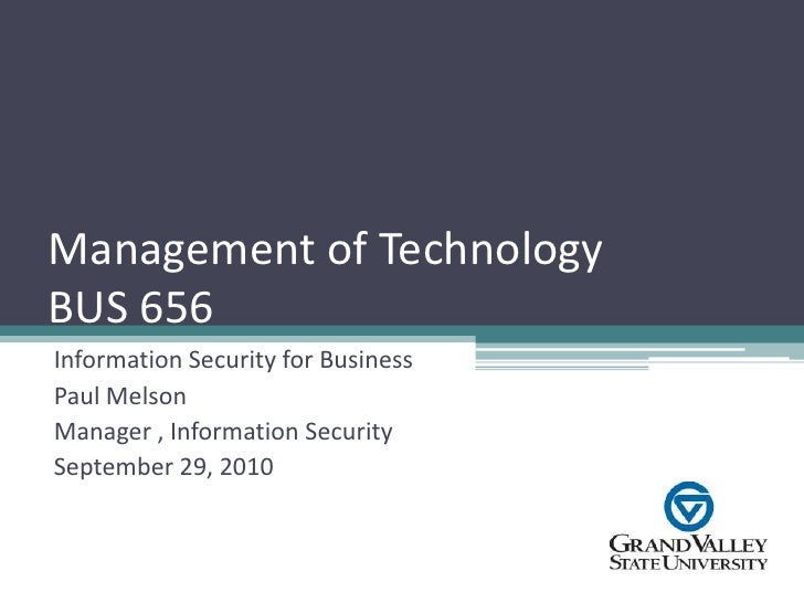 Information security for business majors