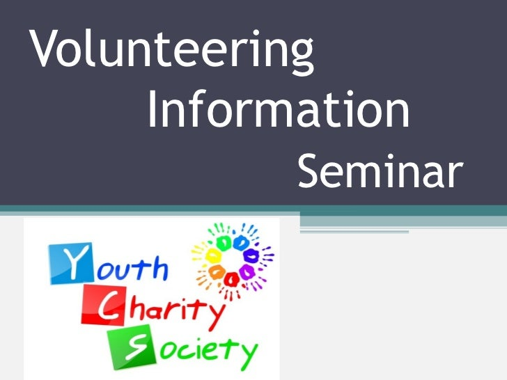 Volunteering   Information   Seminar