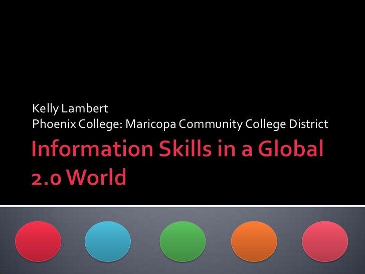 Kelly LambertPhoenix College: Maricopa Community College District