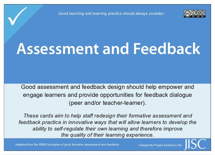 P                             Good teaching and learning practice should always consider:Assessment and Skills  Learner E...