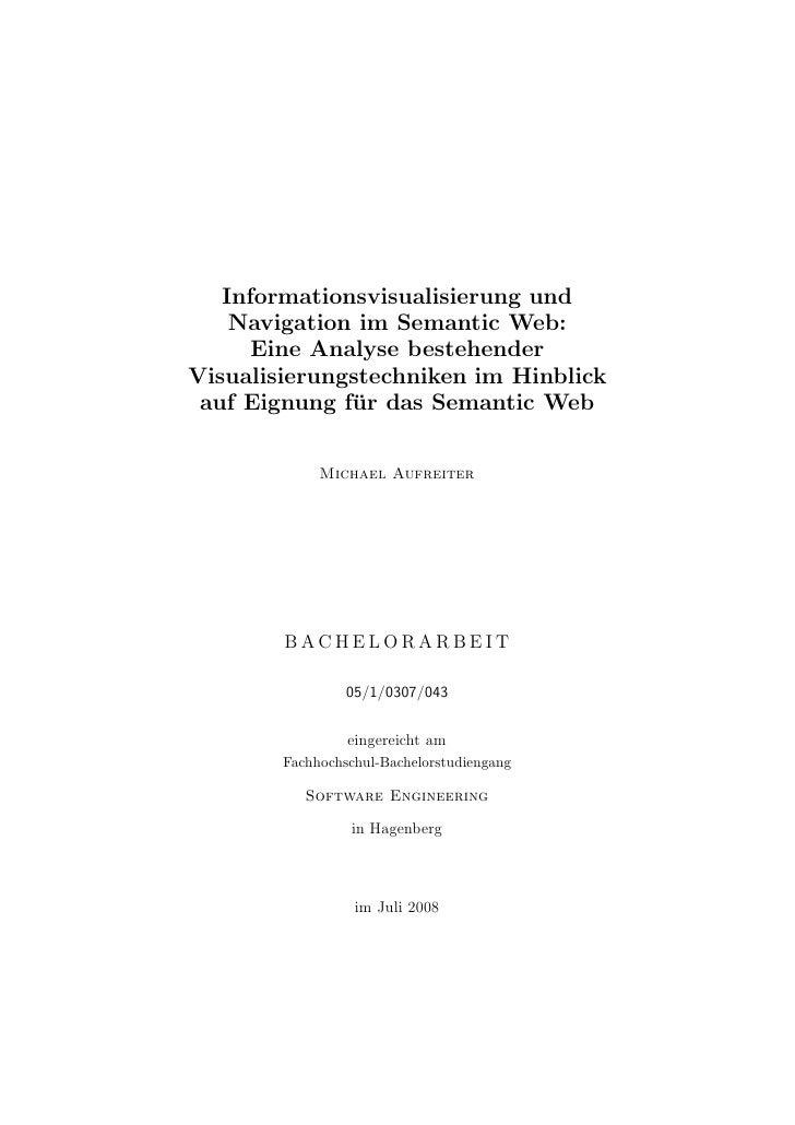 Informationsvisualisierung und     Navigation im Semantic Web:       Eine Analyse bestehender Visualisierungstechniken im ...