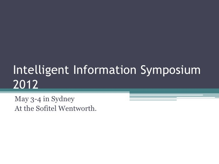 Information symposium