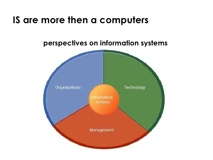 perspectives of information system The paper reviews the information systems (iss) literature to show that much  work on iss has been based on the perspectives of determinism (viewing the.