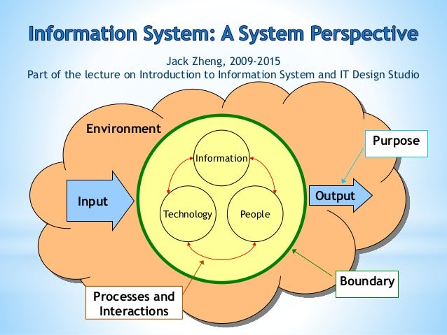 Information system a system view