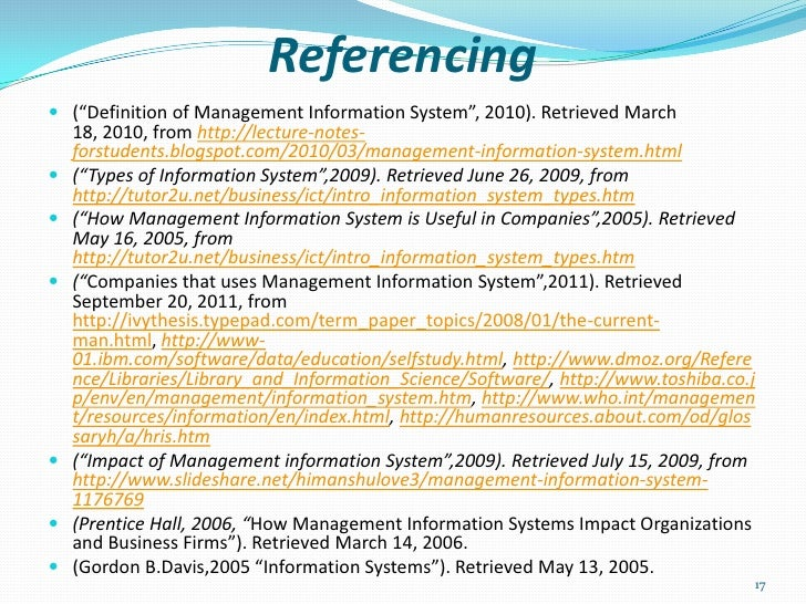 impact of managemment information system on