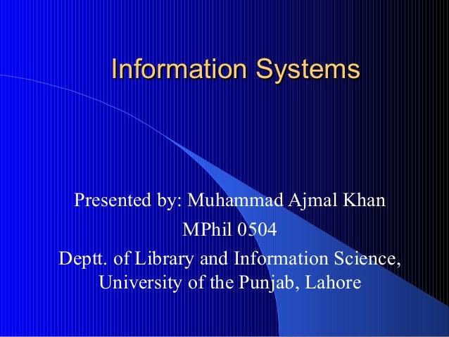 Information systemspresentationfinal