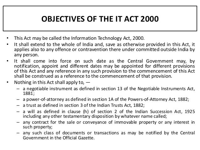 information technology act paper Information technology (amendment) act, 2008 learning objectives • to know about it act 2000 (as amended by information technology (amendment) act 2008), and its objectives,  paper documents it is cheaper, easier to store and retrieve and speedier to communicate.