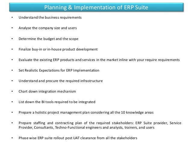 enterprises resource planning essay Enterprise resource planning (erp) is an integral component of today's complex  global marketplace erp software helps companies.