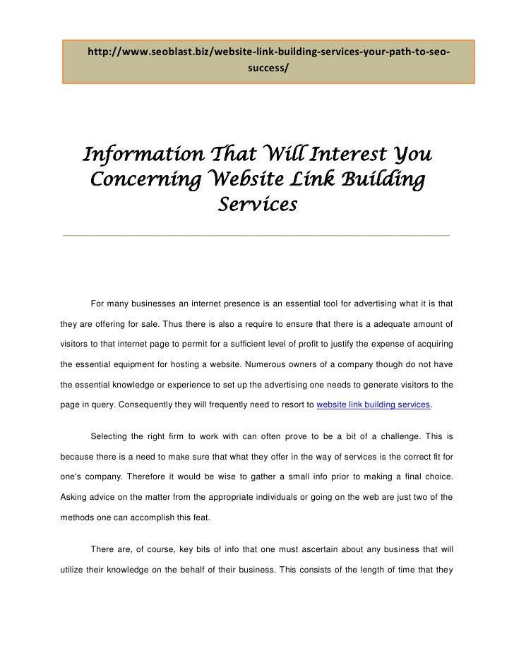 http://www.seoblast.biz/website-link-building-services-your-path-to-seo-                                     success/     ...