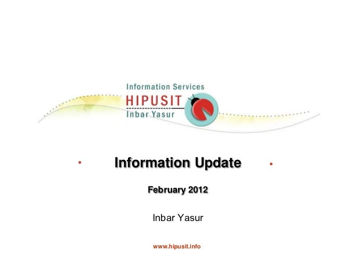 Information update feb 2012