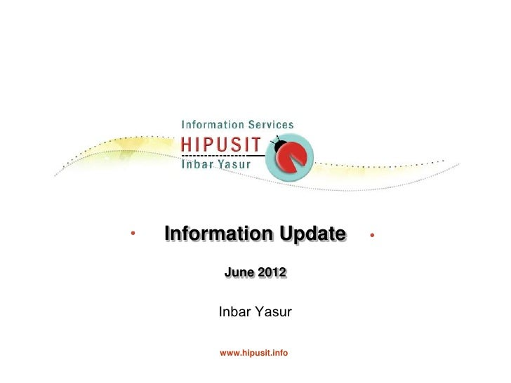 Information update june 2012