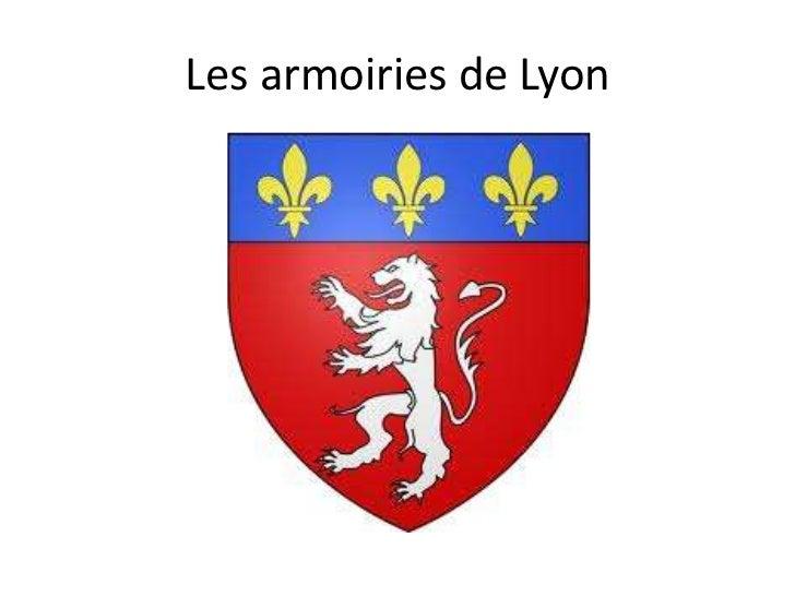 Les armoiries de Lyon