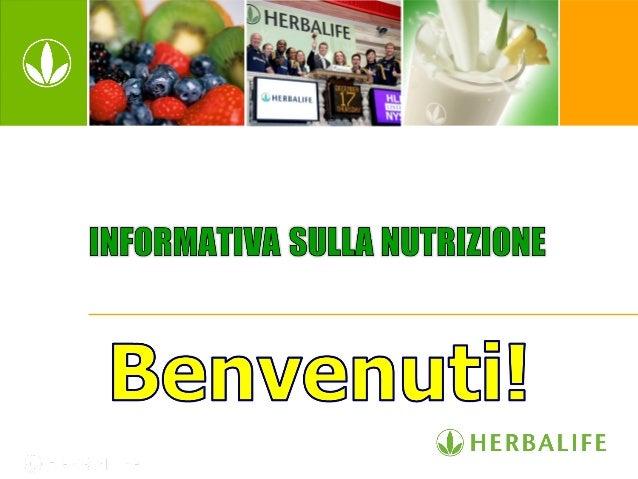 Informativa sulla nutrizione