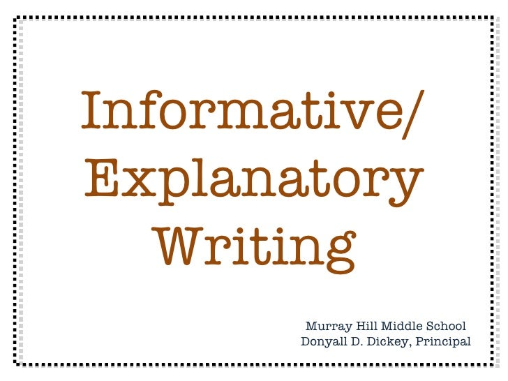 Explanatory Paragraph Examples