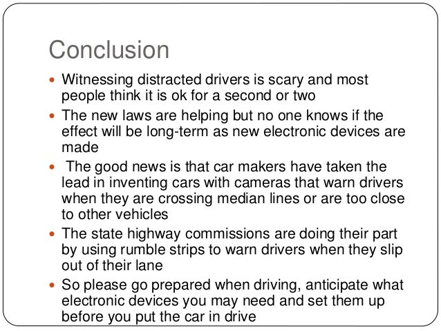 Distraction while driving essay