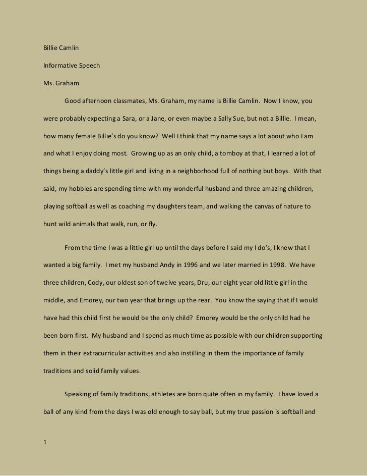 examples of informative essays for college image 8 speech example essay - Example Of Speech Essay