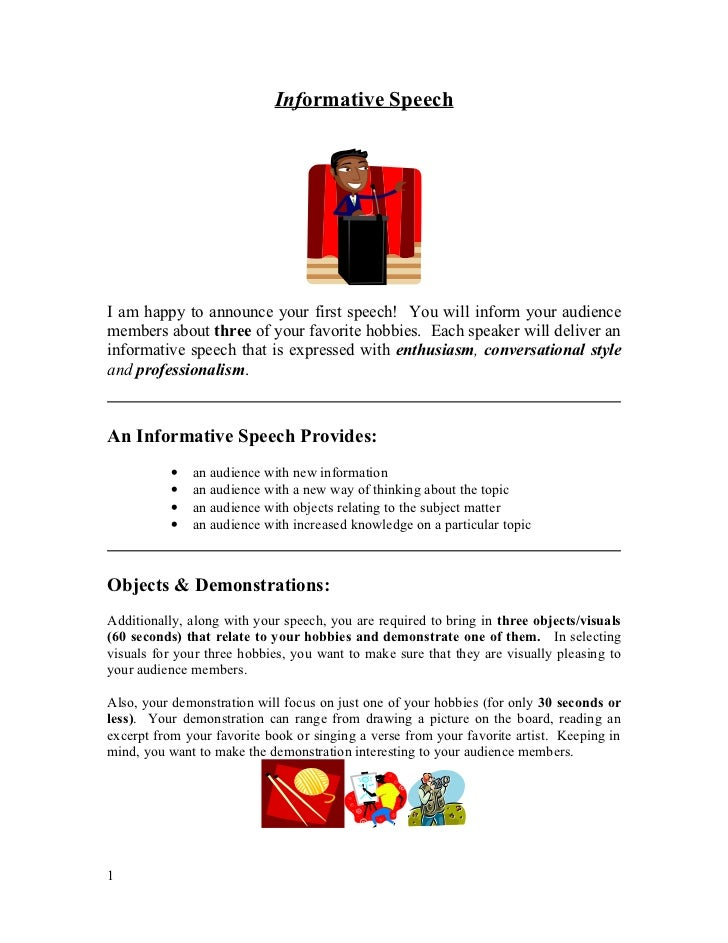 informative topic speech Informative speech topic ideas quite often you are asked to give a speech or a presentation the problem is what topic to choose for your speech here are a few example titles many of them can be changed by substituting the blank _____.
