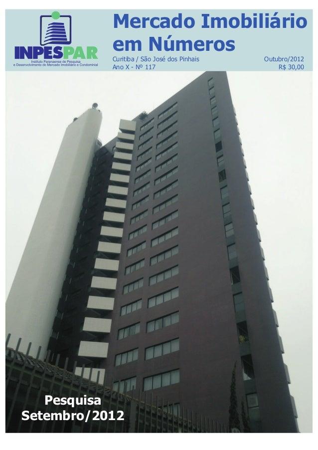 Mercado Imobiliário em Números Curitiba Setembro/2012