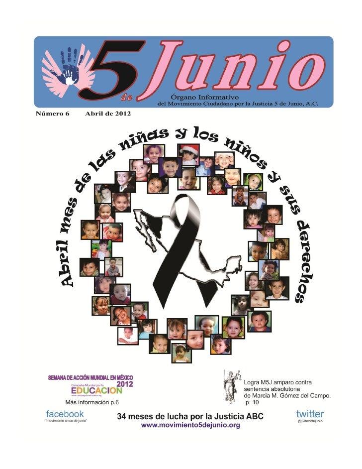 Informativo 5 de junio abril 2012