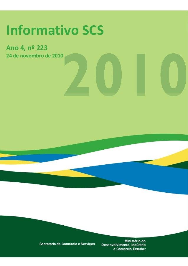 Informativo da secretaria de comércio e serviços 223