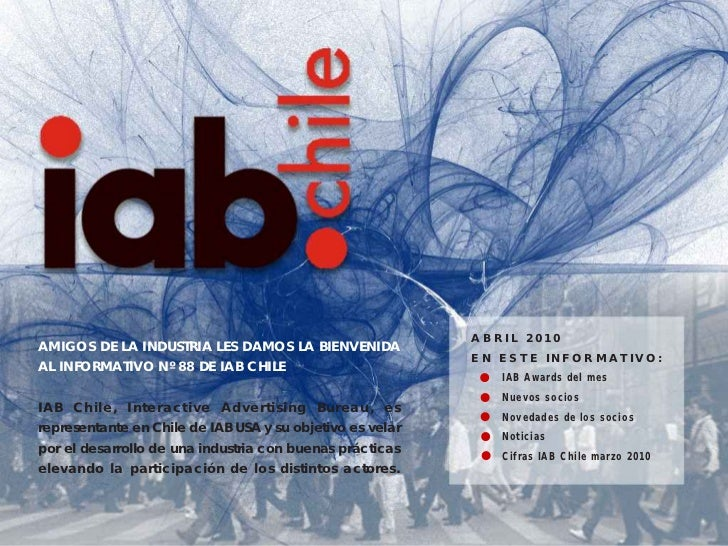 Informativo IAB Chile Abril 2010
