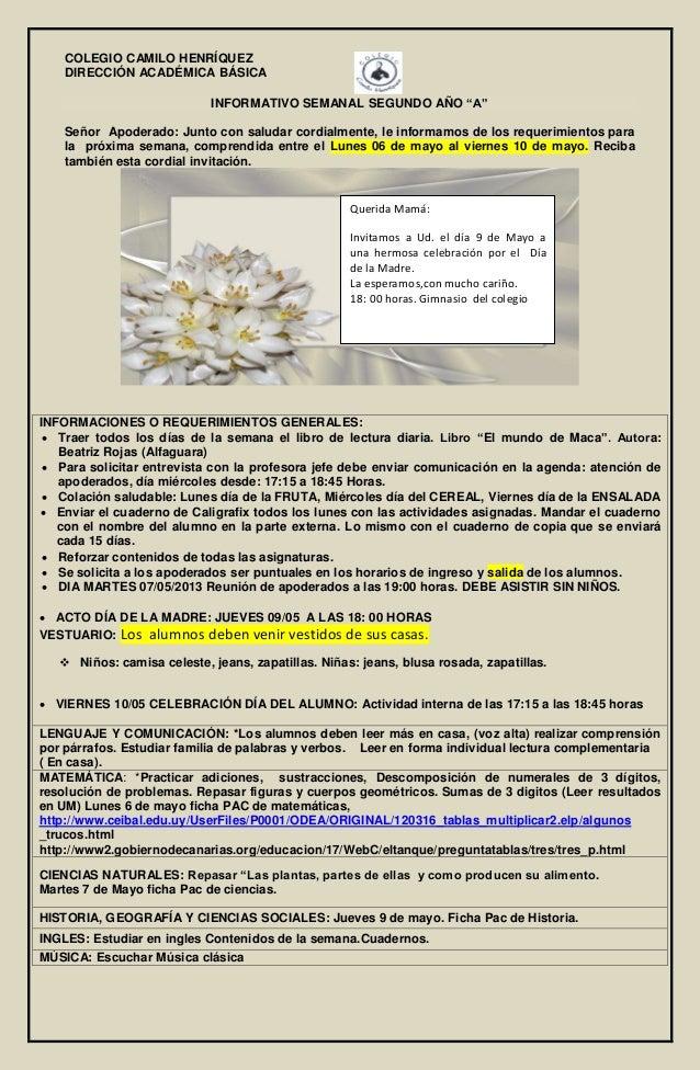 Informativo nº 9 03 de mayo-2º básico a