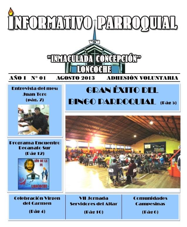 Informativo parroquial agosto