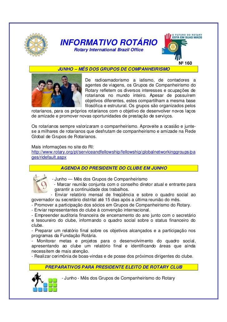 INFORMATIVO ROTÁRIO                      Rotary International Brazil Office                                               ...