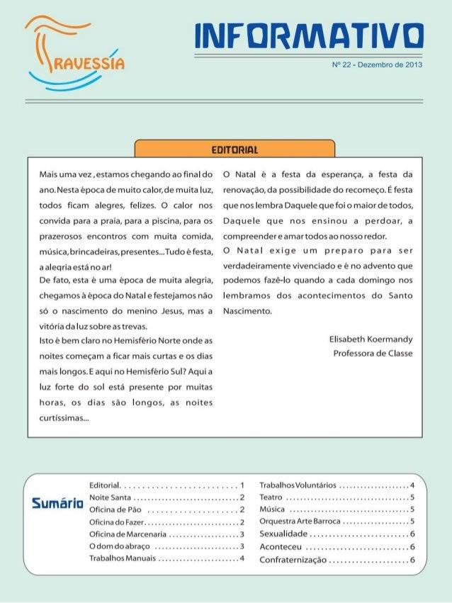 Associação Travessia Informativo Dez. 2013