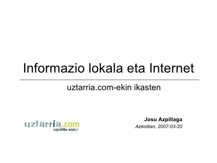 Informazio Lokala Eta Internet